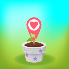Heart in a plant