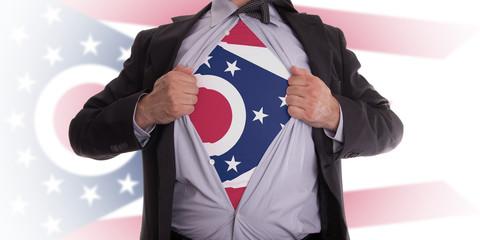 Businessman with Ohio flag t-shirt