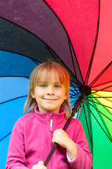 Child with umbrella
