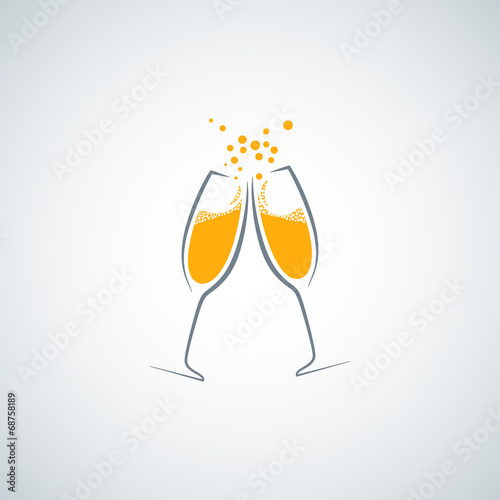 champagne glass background - 68758189