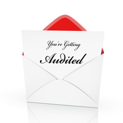 the words you are getting audited on a card