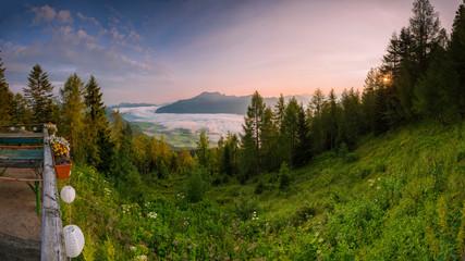 Ausblick von der Bleckwandhütte