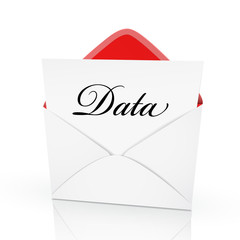 the word data on a card