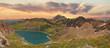 Gebirgspanorama Lünersee bei Sonnenuntergang