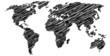 symbolische Darstellung der Weltkarte