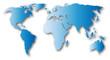 Weltkarte symbolische Darstellung