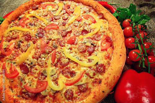 canvas print picture Big pizza texture
