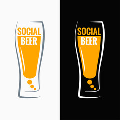 beer glass social media concept background