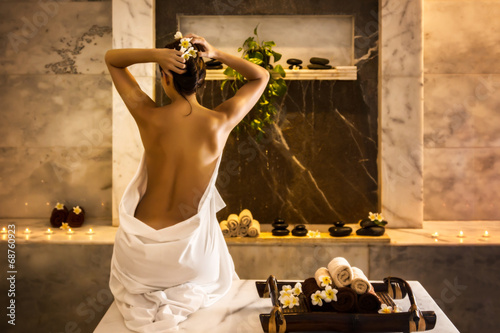 Plexiglas Akt Girl-in-hammam