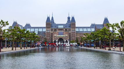 Amsterdam, Netherlands. The square in front of the State museum