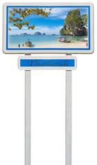 plage de Thaïlande sur panneau