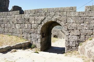 Entrance in bulwark of castle in Monsanto, Portugal