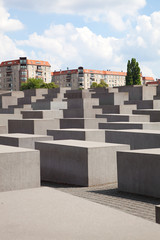 the holocaust memorial site in Berlin