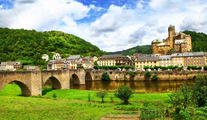 beautiful medeival Estaing -one of the most picturesque villages