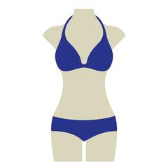 Bikini Sommer Vektor Icon Button
