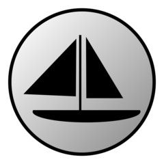 Sailing ship button