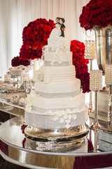 Wedding Cake at the Reception