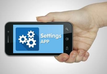 Settings app. Mobile
