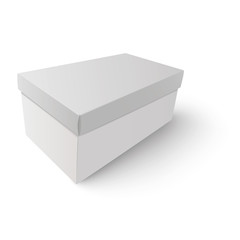 White shoe box