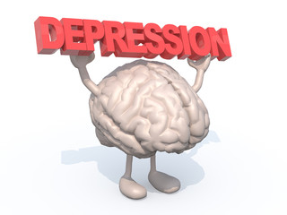 "brain with arts that sustains a word ""depression"""