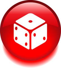 Круглый векторный значок с изображением кубика