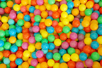 Many colour plastic balls for background
