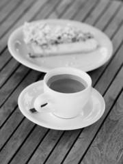 coffee and cake bw shot