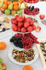 berries and nuts on a plate