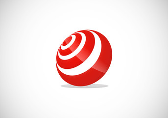 ball target circular 3D abstract vector logo