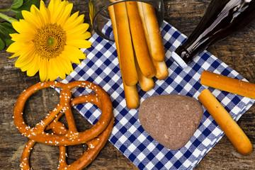 Tischdekoration, Oktoberfest, Textfreiraum