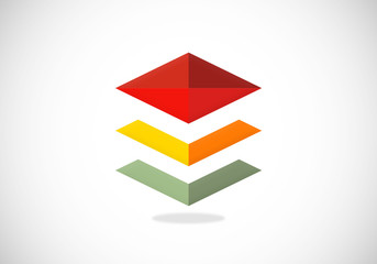level geometry abstract vector logo