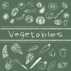 vegetables board 落書き 黒板 野菜