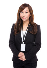 Business secretary portrait