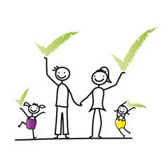 Familie - Zustimmung