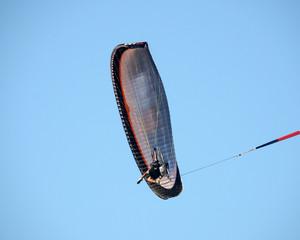 Paraglider seen from below