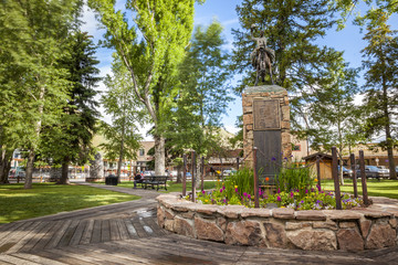 Jackson hole city center, Wyoming