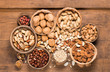 canvas print picture - Assorted mixed nuts