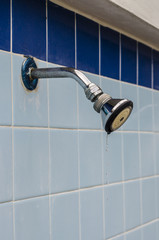 Faucet on tile wall