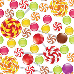 candies seamless background