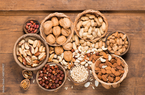 canvas print picture Assorted mixed nuts