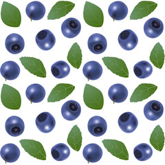 Seamless blueberry background