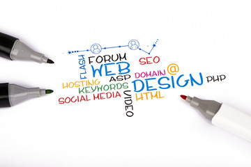 web degign concept on white background