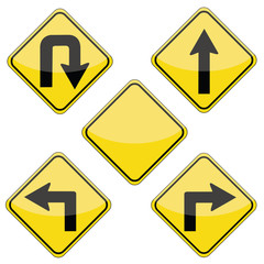 road signs pack in vector format