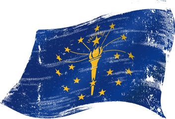 waving indiana grunge flag