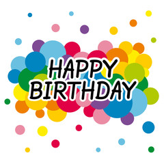 Happy birthday card with colorful background