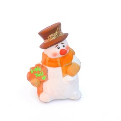 Snowman with Christmass bread