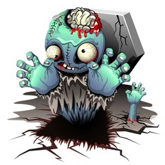 Zombie Monster Cartoon Doll