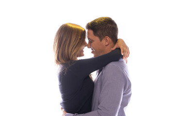 Loving couple share a tender moment