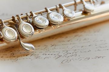 Querflöte auf Brief