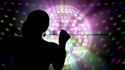 Mirror ball dancer.